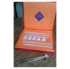 Shanghai Tang Chopstick Set in Silk Covered Presentation Pack #chopsticks #present ##presentation #shanghaitang #shaghai #hongkong #silk #box #presentationbox #gifts #china #chinese #1920s #cheonsam #pack