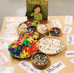 Learning and Exploring Through Play: 44 Tuff Spot Play Ideas Nursery Activities, Name Activities, Writing Activities, Play Based Learning, Project Based Learning, Learning Through Play, Early Learning, Kindergarten Literacy, Early Literacy