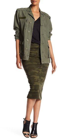 Sanctuary Camo Printed Ponte Skirt, #ad, camo, stitch fix, style, women's fashion, style, summer