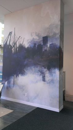 "// seifersucht - Lorelei L'Affeter - wall cover for ""les bassins du havre"""