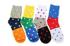 Polka Dot Socks. Colorful Socks. Mens Socks. Groomsmen by Tietle, $9.00