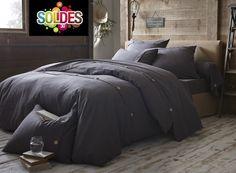 GRIS SOURIS - Housse de Couette - 260x240 cm