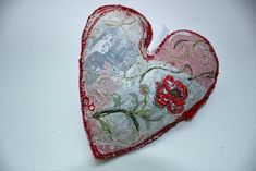 Embroiderers' Guild - 100 Hearts Project - Knitting & Stitching London 2018