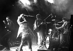 """The Who ● Monterey Pop Festival ● 1967 """"The Who surprised everyone when they smashed up their instruments at the end of their Monterey Pop show. A sound engineer came running out to save the expensive microphones and almost got a whack from Pete Townsends's flying guitar."""