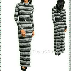 Hp Sale Sweater Maxi Dress Long Sleeves Belt