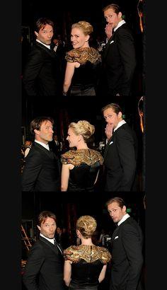 Emmy Awards 2010 - Alexander Skarsgard, Anna Paquin & Stephen Moyer Photo