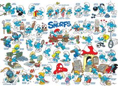Shop for Cobble Hill Feelin' Smurfy Puzzle - Pieces. Get free delivery On EVERYTHING* Overstock - Your Online Toys & Hobbies Outlet Store! Create Your Own Puzzle, Smurf Village, Puzzle 1000, Puzzles For Kids, Baby Clothes Shops, 1000 Piece Jigsaw Puzzles, Smurfs, Kids Room, Animation
