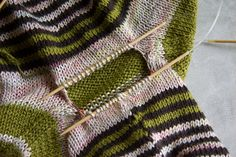 Tricksy Knitter by Megan Goodacre » How to Graft Underarm Stitches in a Seamless Sweater – Part 1