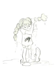 concept art for an animated Pippi from 1971. Artist: Hayao Miyazaki