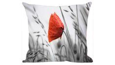 Almofada Digitalizada, Estampa de Tulipa Laranja, 100% Algodão, Ref. 012. http://www.moradamoveis.com/