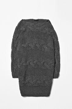 cos alpaca cable knit dress