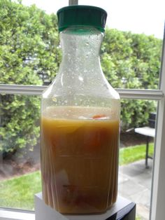 Citrus Enzyme Cleaner Recipe - this one includes yeast and brown sugar.  Is REALLY GOOD STUFF.
