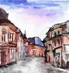 Bucharest Painting - Bucuresti by Cuiava Laurentiu Bucharest, Old City, Cities, Street, Painting, Art, Old Town, Painting Art, City