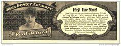 Original-Werbung/Inserat/ Anzeige 1918 - KALIKLORA ZAHNPASTA - ca. 180 X 60 mm