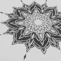 Dot Work Mandala Tattoo