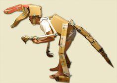 cardboard dinosaur head - Buscar con Google