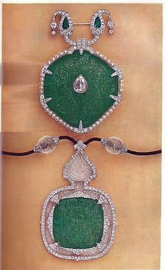 Cartier Paris Belle Epoque Diamond Emerald Rock Crystal Brooch and Pendant image Clive Kandel Cartier Collection   Flickr - Photo Sharing!