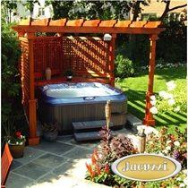Construire patio piscine hors terre recherche google patio piscine - Jacuzzi exterieur enterre ...