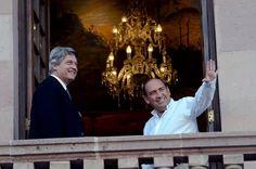 El Gobernador Rubén Moreira Valdez recibió en Palacio de Gobierno al Senador uruguayo, Rafael Michelini, así como al Embajador de México en aquel país, Felipe Enríquez Hernández