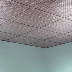 Fasade Diamond Plate - 2 ft. x 2 ft. Revealed Edge Lay-in Ceiling Tile in Crosshatch Silver-L66-21 - The Home Depot