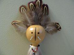 Deer Totem , Deer Totem Doll , Spirit Doll , Totem Art , Animal Totem , Spiritual Tool , Meditation Tool , Deer Medicine , Gourd Art by SpeaksWithAncestors, $50.00 USD