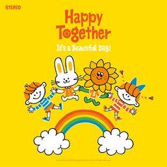 梅雨入りだそうですね。どよ〜ん。 それでもカラっと今週もどうぞユルシク お願いいたしま〜す。 Japanese Funny, Japanese Drawings, Happy Together, Cute Characters, Cute Illustration, Cartoon Drawings, Cute Cartoon, Cute Art, Art For Kids