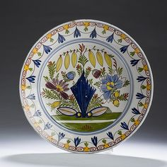 DUTCH DELFT POLYCHROME CHARGER, SECOND HALF EIGHTEENTH CENTURY