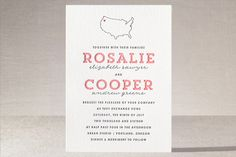 On Location Letterpress Wedding Invitations by Olivia Raufman at minted.com