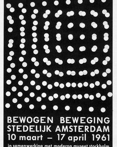 Dieter Roth, Bewogen Beweging - Stedelijk Museum, Amsterdam. 1961. . . . . . . . #stedelijkmuseum #modernmuseet #amsterdam #stockholm…