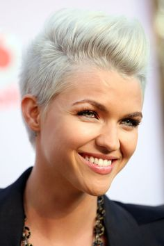 Pin for Later: 26 Gorgeous Reasons to Crush On Ruby Rose December 2009 Ruby's frosty strands and ice-blue eyes made her look like a sexy silver fox at the 2009 MTV Summer party.