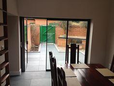 UltraSlim patio doors - one door open
