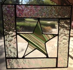 Stained Glass Suncatcher Star Panel by PeaceLuvGlass on Etsy, $15.00