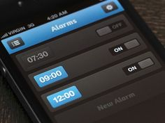 Custom iPhone App List View Interfaces / Design Tickle