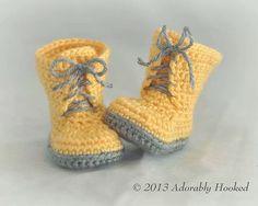 "Ravelry: Baby Combat Boots ""Little ComBrat Combat Boots"" pattern by Elizabeth Alan $5.95 USD"