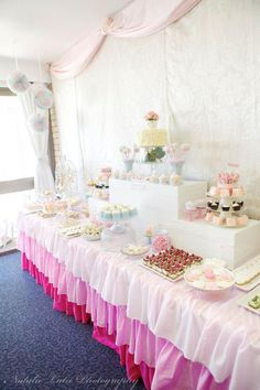 Dessert buffet at Ladies Vintage High Tea Party by Sugar Coated Mama, via Kara's Party Ideas karaspartyideas.com #vintage #tea #party #ideas