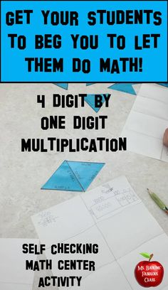 This 30 problem four digit by one digit multiplication puzzle is ideal for engaging math center work. This puzzle can be used by small groups, partners, or individual students.
