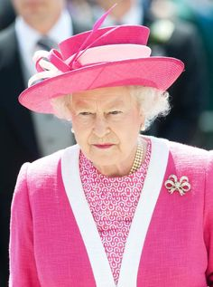 Queen Elizabeth II - So pretty in pink. She always dresses so colorful. I think that is awesome! Very classy, of course, but she wears her colors.