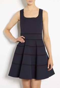 Lace Panel Fit and Flare Dress by Red Valentino