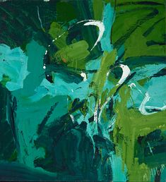 """Mary Abbott, """"All Green"""" (c. 1954), oil paint on linen, 49 x 45 1/8 in, Denver Art Museum: Gift of Janis and Tom McCormick (image courtesy McCormick Gallery, Chicago, © Mary Abbott)"""
