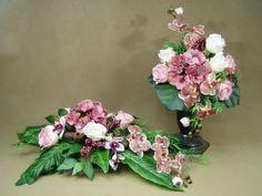 HORTENSJA RÓŻE STORCZYKI kropki 1064.1A KOMPLET stroik na grób + BUKIET Kompozycje kwiatowe Marko604