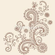 paisley tatt idea, would also make a nice t-shirt design with a bleach pen.