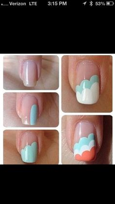 Nail Art - I don't usually like nail art, but I like this!