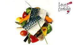Caballa confitada al aroma ibérico con verduras a la parrilla, una propuesta ideal para este fin de semana #receta #pescado
