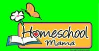 "Pretty logo for the ""homeschool mamas"" out there.  Shown on a green background, this looks great on almost any color shirt.  Pick your favorite."