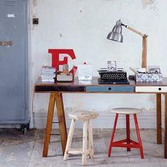d0a6230d5 Lampara industrial escritorio Espacios De Trabajo, Design De Interiores,  Diseño De Interiores, Escritorio