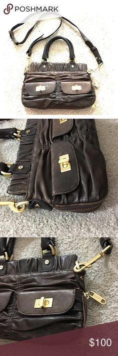 Alexis Hudson brown leather Crossbody leather bag Absolutely beautiful Alexis Hudson cross body brown leather purse expandable with the zipper excellent quality this similar person is being listed for $400 excellent price non-smoking home fast delivery alexis hudson Bags Crossbody Bags
