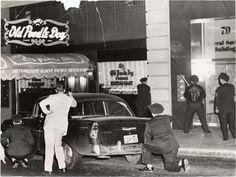 Old Poodle Dog Restaurant on Post Street, San Francisco, 1957 by San Francisco Public Library, via Flickr