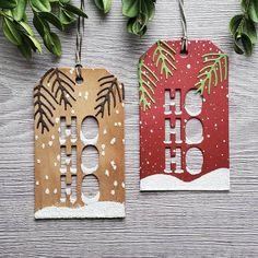 Christmas Present Tags, Homemade Christmas Cards, Christmas Cards To Make, Christmas Gift Wrapping, Christmas Tag, Xmas Cards, Homemade Cards, Handmade Christmas, Holiday Cards