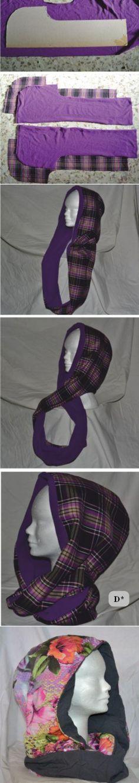 Шьем шарф-хомут с капюшоном