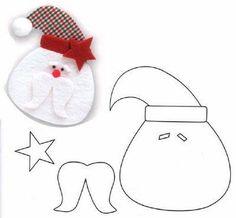 Molde de Santa Navidad